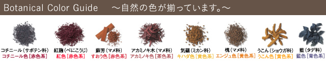 Botanical Color Guide  ~自然の色が揃っています。~